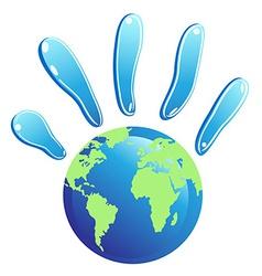 hand globe symbol vector image