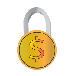 money protection icon flat design business vector image
