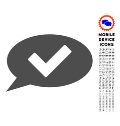 ok message icon with set vector image vector image