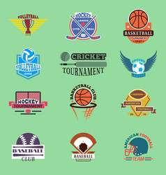 sport badge template teams or clubs school balls vector image