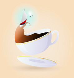 concept and idea of relaxing in a break vector image
