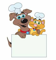 dog and cats chefs vector image vector image