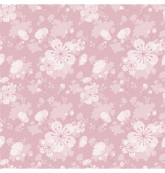 Oriental flower seamless pattern vector