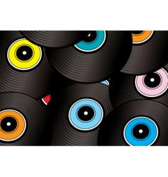 record montage vector image vector image