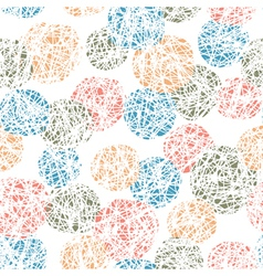 seamless doodles ball pattern vector image