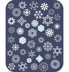 Snowflake White Set vector image vector image