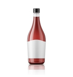 Wine vinegar bottle with cap and label vector image vector image