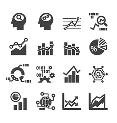 analytics icon set vector image