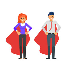 business characters in red cloaks vector image vector image