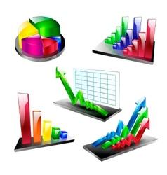 business plan symbol element set icons arrow vector image