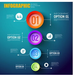 infographic template with four multicolored circle vector image
