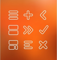 Linear computer icons vector image