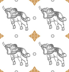 Seamless pattern background of white elephant vector image