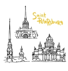 sketching of Saint Petersburg vector image