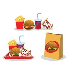 Take away food vector image