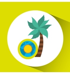 vacation around world sunny palm vector image vector image