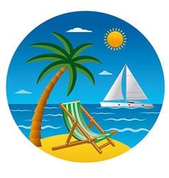 beach vacation vector image vector image