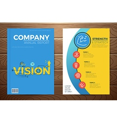Business vision book cover vector image
