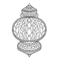 Hand drawn traditional lantern of Ramadan vector image
