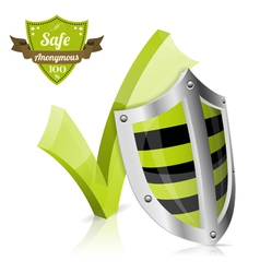 Safe and Anonymous Concept vector image