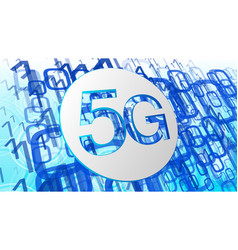5g technology innovation computer software code vector image