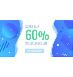 60 percent offer background with abstract shapes vector