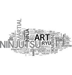 A look at ninjutsu text word cloud concept vector