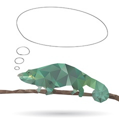 Abstract Iguana vector image