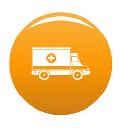 ambulance icon orange vector image