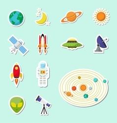 astronomy sticker icon vector image