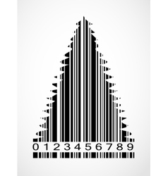 Barcode Christmas Tree Image vector