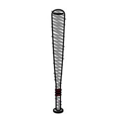 baseball bat design vector image