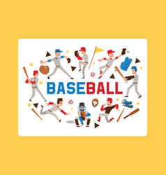 baseball people player man character in catchers vector image