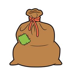 Big brown sack vector