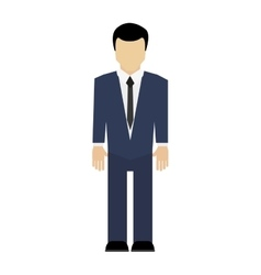 Businessman standing icon vector