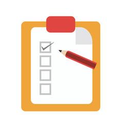 Checklist clipboard and pencil symbol vector