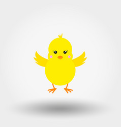 Chick icon flat vector