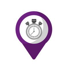Chronometer social media round pointer web vector