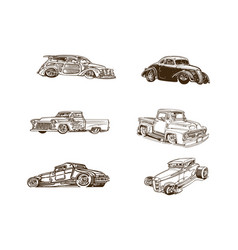 classic car cartoon clipart collection collection vector image