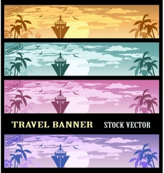 Colourful banners vector