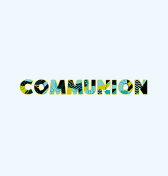 communion concept word art vector image