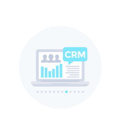 Crm system software vector