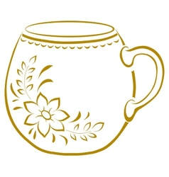 Cup with a pattern pictogram vector