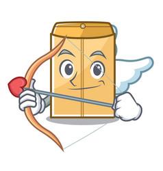 Cupid mailer envelope in character shape vector