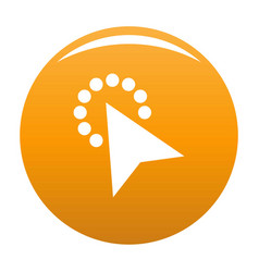 cursor modern click icon orange vector image