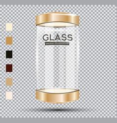 empty golden glass showcase vector image