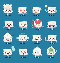 envelope message emojji character emotions face vector image