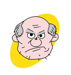 evil old man face vector image