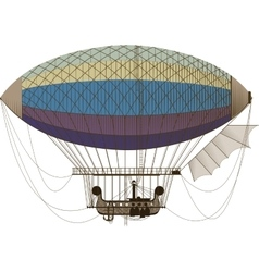 Fantastic retro dirigible vector image