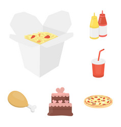 Fast food cartoon icons in set collection for vector